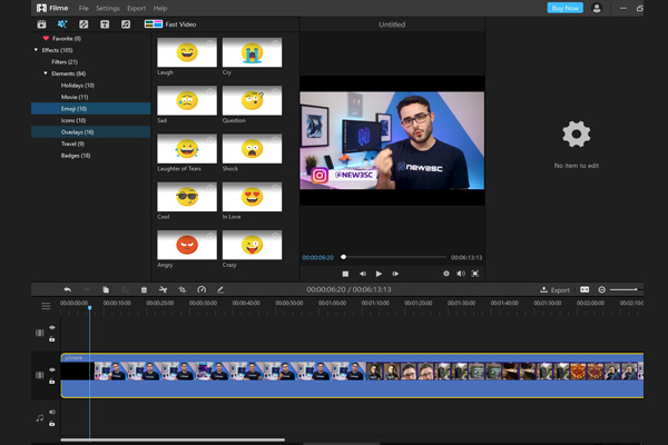 iMyFone Filme el mejor editor de video gratuito