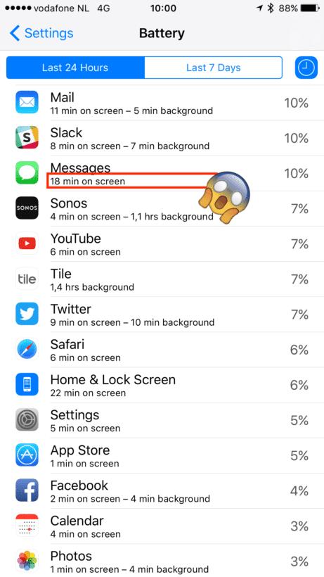 iOS cuanto tiempo en apps 3