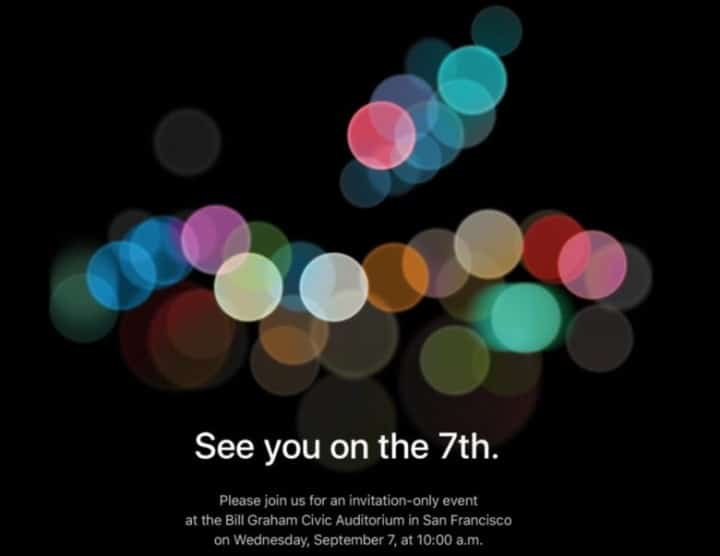 iPhone 7 evento
