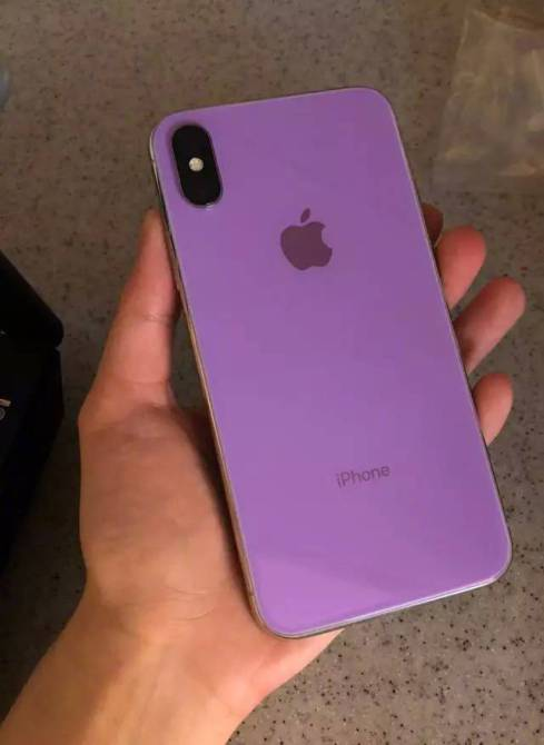 iPhone X 2018 púrpura