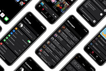 iPhone X ios 11 tema negro