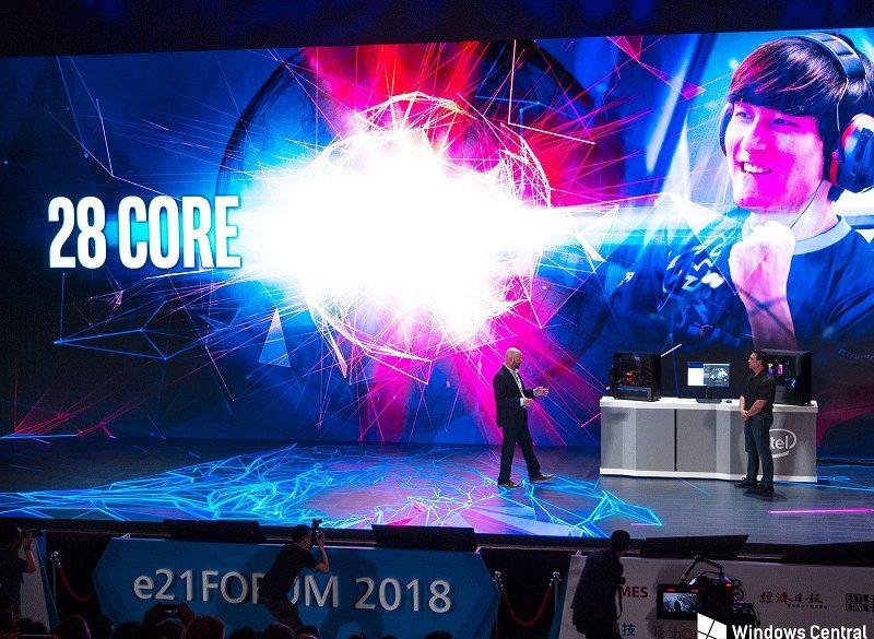 intel 28-core procesador