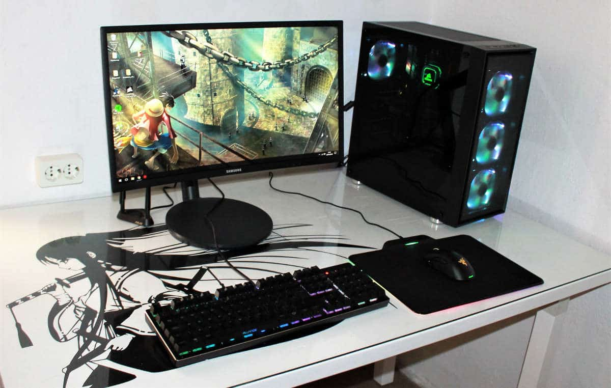 mars gaming MC7 set up