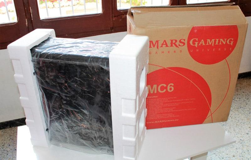 mars gaming caja carton