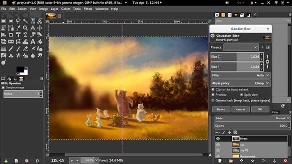mejore programa de diseño grafico GIMP