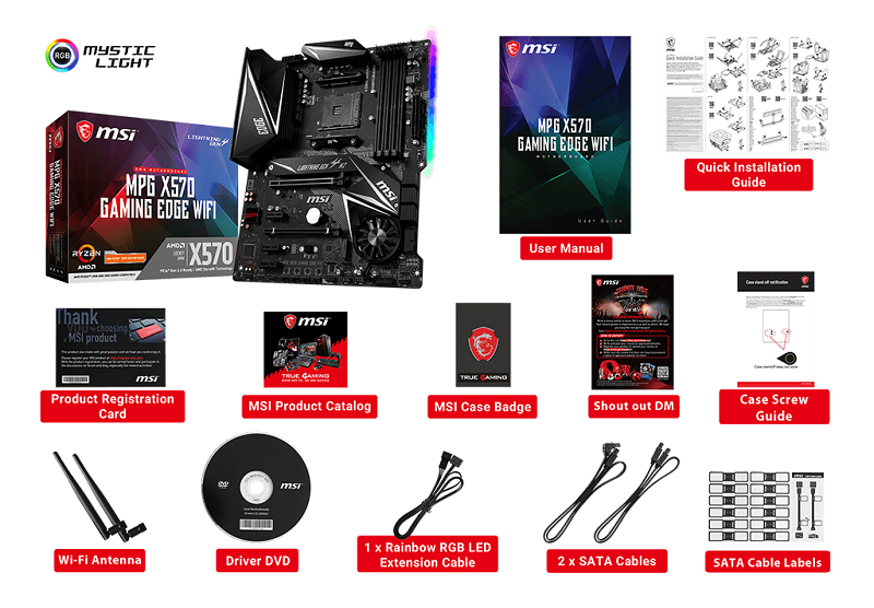 msi mpg x570 gaming edge wifi accessories
