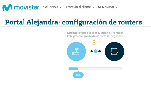 obteniendo datos router Movistar