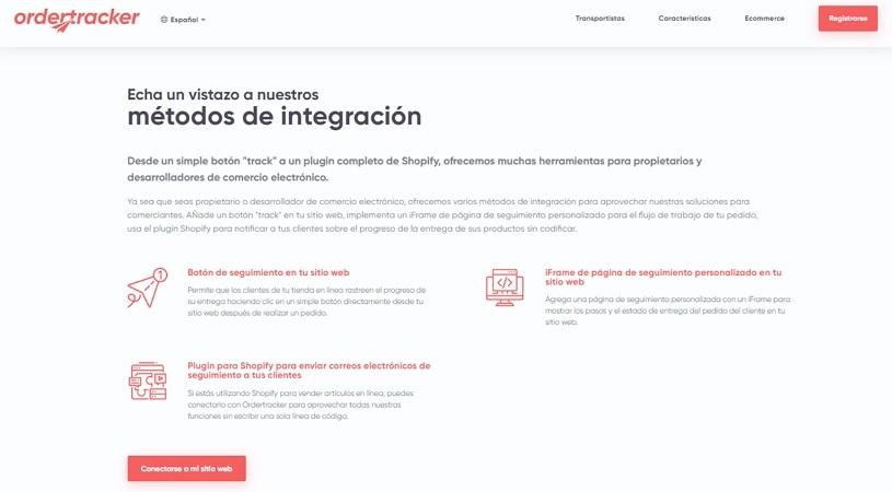 order Tracker Integración en eCommerce
