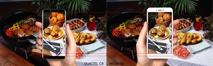 oukitel-c8-vs-xiaomi-redmi-4x-camara