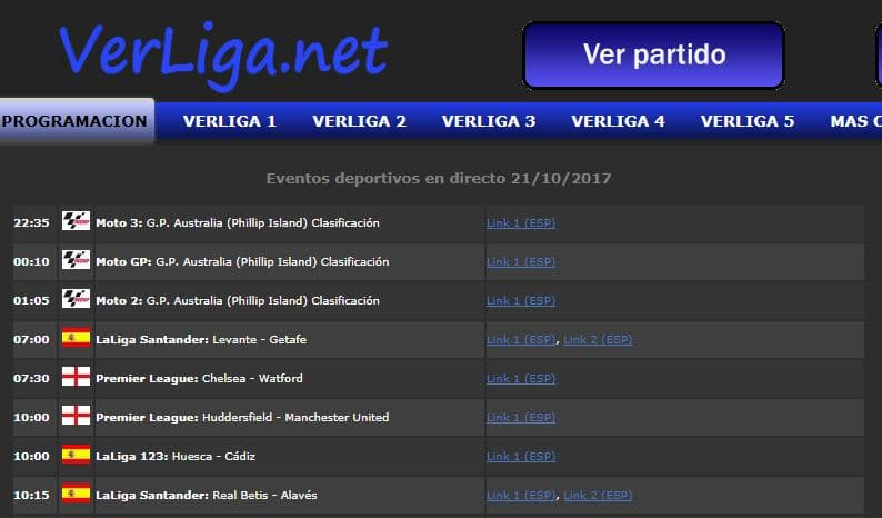 paginas para ver futbol verliga.net