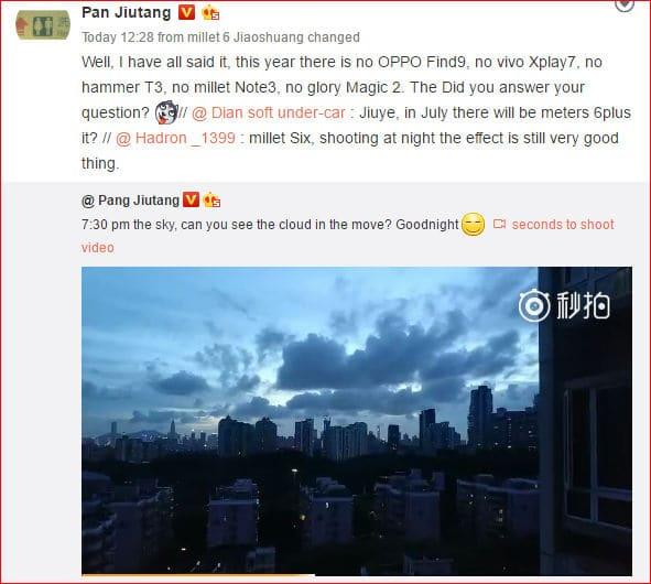pan-jiutang lanzamiento Xiaomi Mi 6 Plus