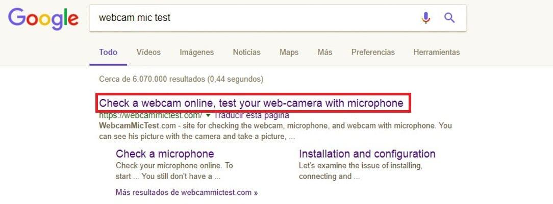probar webcam online paso 1