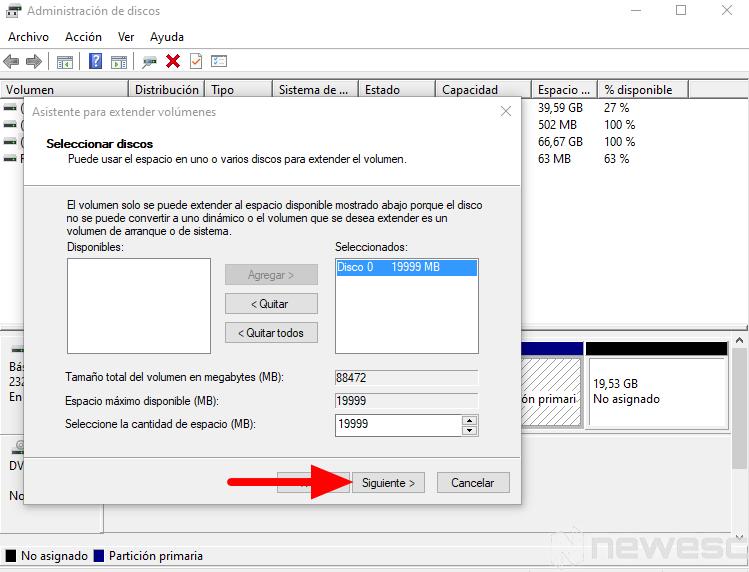 quitar particion de disco duro Windows 2