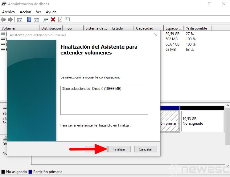 quitar particion de disco duro Windows 3