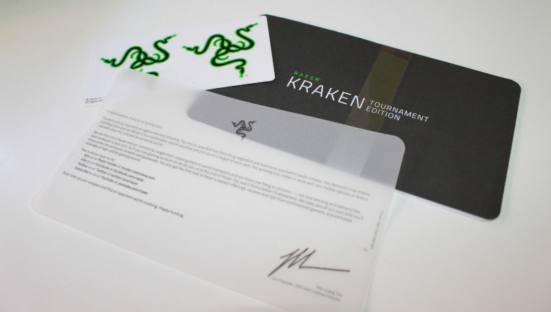 razer kraken tournament edition documentacion