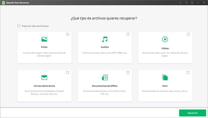 recuperar datos y fotos de la Tarjeta SD - iSkysoft Data Recovery