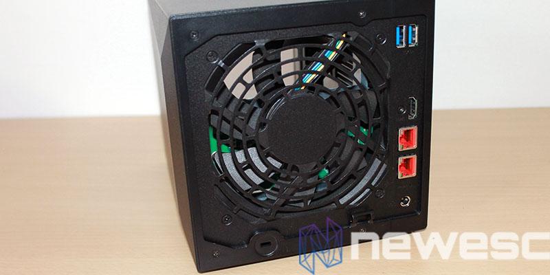 review Asustor Nimbustor 4 AS5304T posterior ventilador