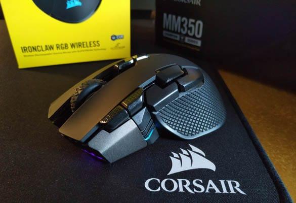 review Corsair Ironclaw RGB Wireless & MM350 destacada