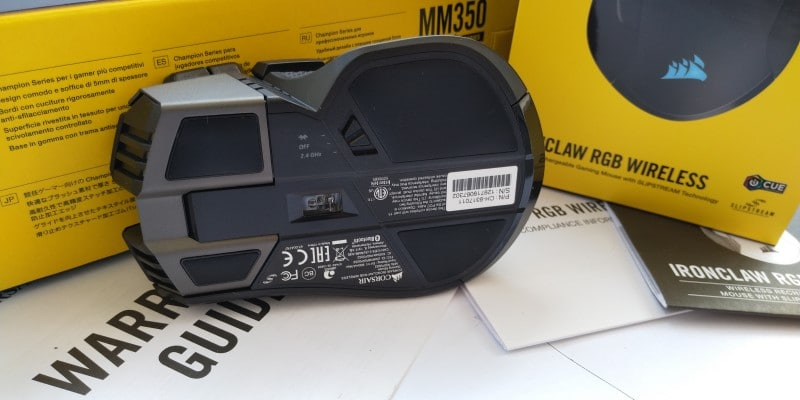review Corsair Ironclaw RGB Wireless & MM350 inferior