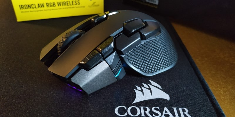 review Corsair Ironclaw RGB Wireless & MM350 lateral 2