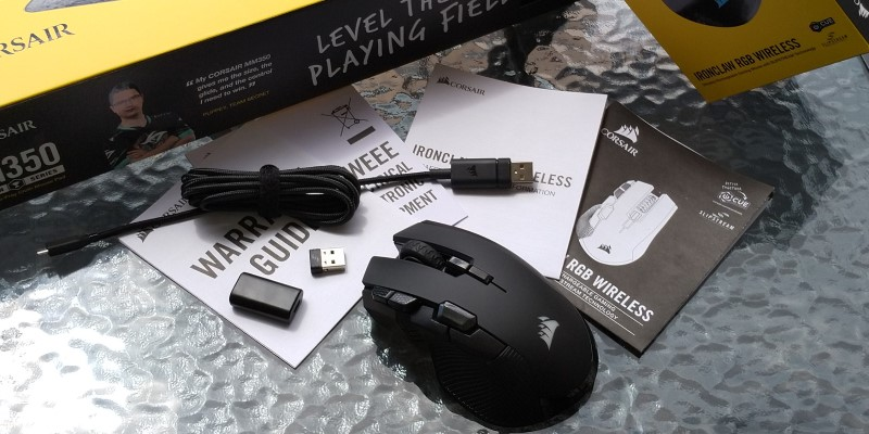 review Corsair Ironclaw RGB Wireless & MM350 unboxing