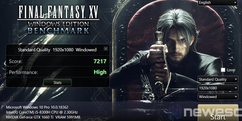 review acer nitro 5 final fantasy XV 1920x1080