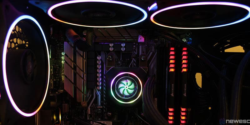 review aerocool pulse L240 iluminacion