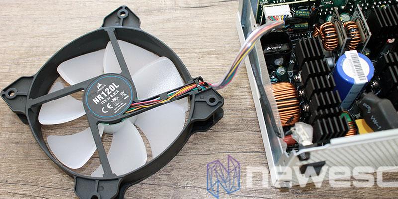 review corsair CX650F RGB fan