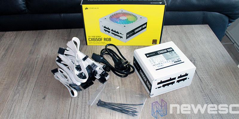 review corsair CX650F RGB packaging