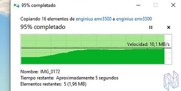 review engenius EMR3500 velocidad transferencia