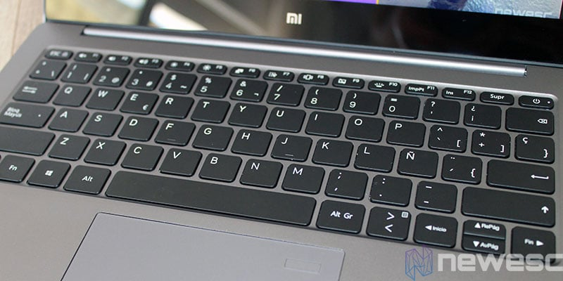 review xiaomi mi laptop air teclado