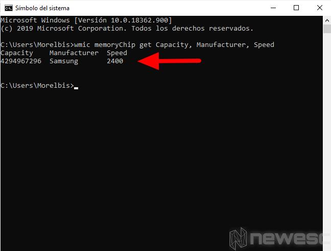 saber capacidad y velocidad de memoria ram 2
