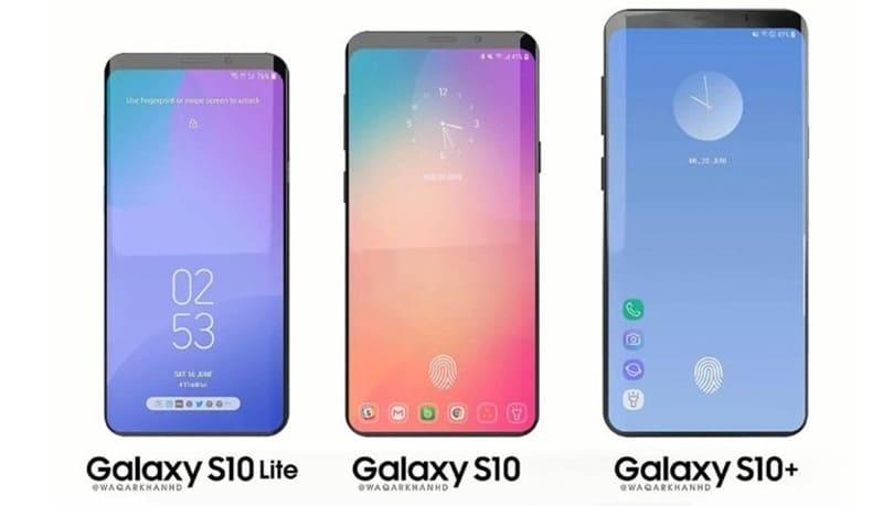 Trío de Samsung Galaxy S10