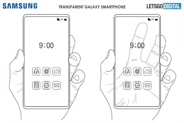 samsung patente movil con pantalla transparente 2
