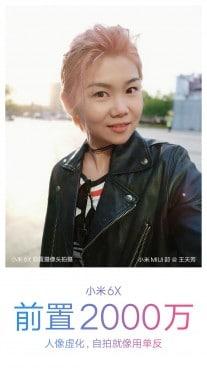 selfie de xiaomi mi 6x