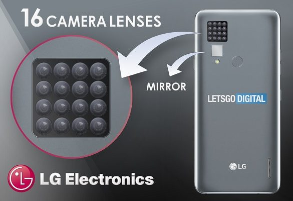 smartphone LG 16 cámaras diseño conceptual