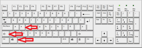 teclado windows shift s