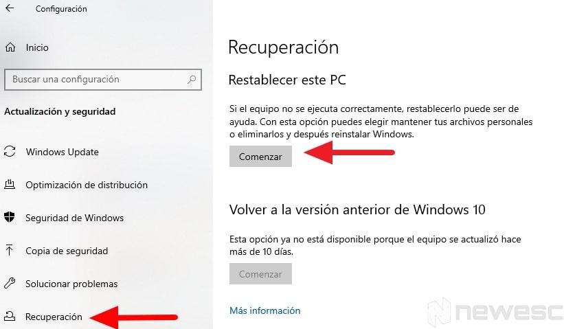 trucos de windows 10 recuperacion min