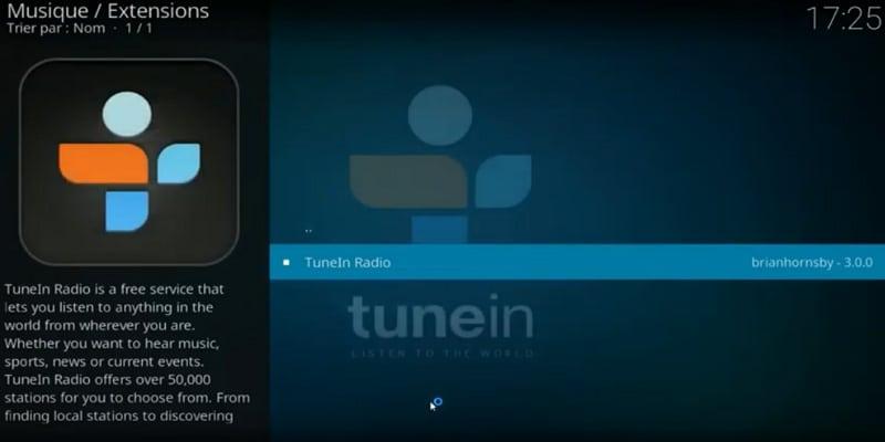 tunein radio addons para kodi