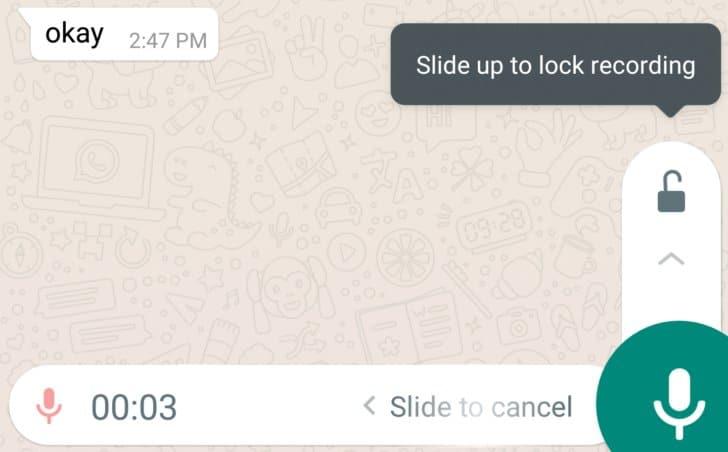 whatsapp bloqueo de nota de voz