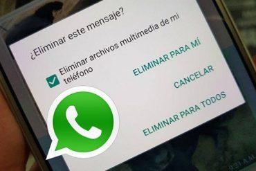 whatsapp: opción para eliminar mensajes
