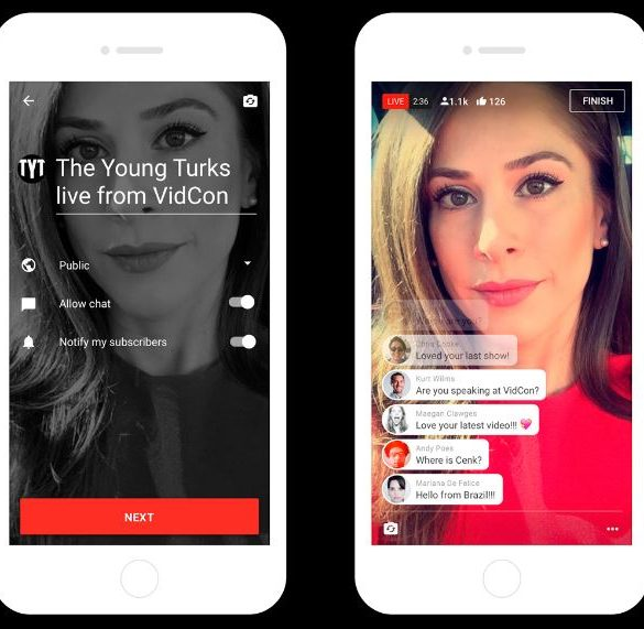 youtube live streming para móviles