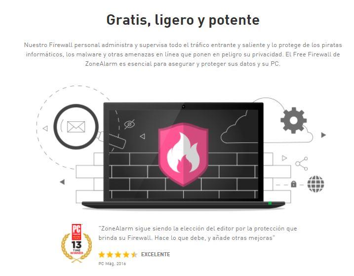 zonealarm - top mejores antivirus gratuitos 2017